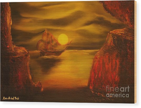 Pirates Cave- Original Sold - Buy Giclee Print Nr 27 Of Limited Edition Of 40 Prints  Wood Print