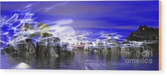 Pirates Cove Wood Print