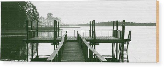Pirate's Cove Pier In Monochrome Wood Print