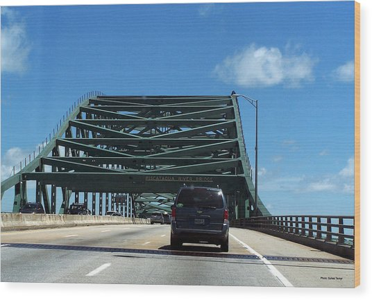 Piscataqua River Bridge Wood Print