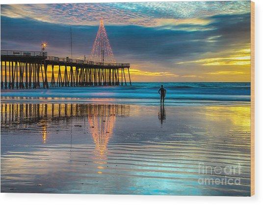 California Christmas Wood Print