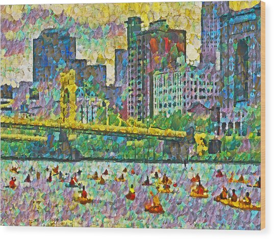 Pittsburgh Adventure Race Wood Print