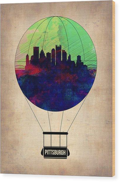 Pittsburgh Air Balloon Wood Print