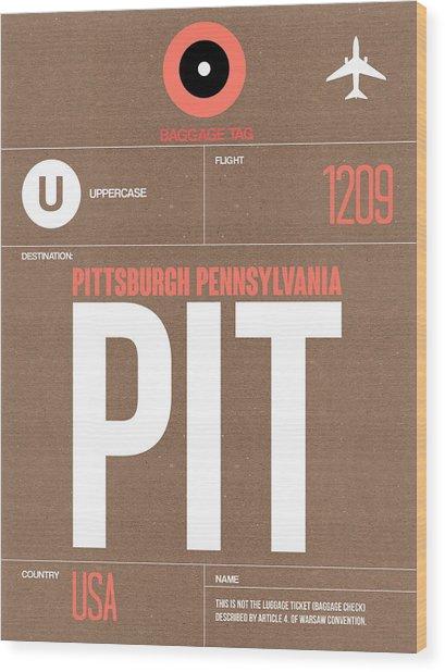 Pittsburgh Airport Poster 2 Wood Print