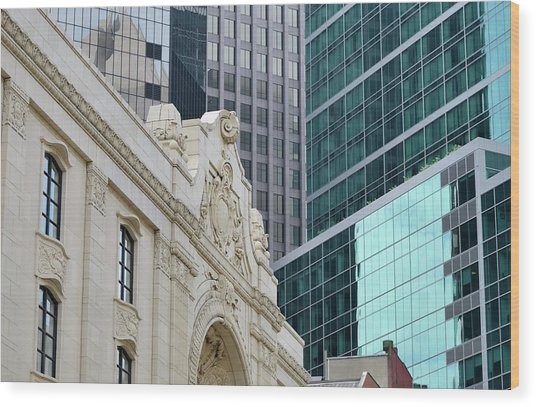 Pittsburgh Architecture Wood Print by Rivernorthphotography