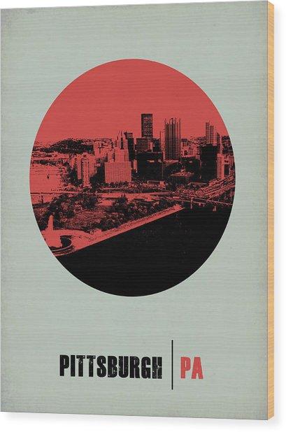 Pittsburgh Circle Poster 2 Wood Print