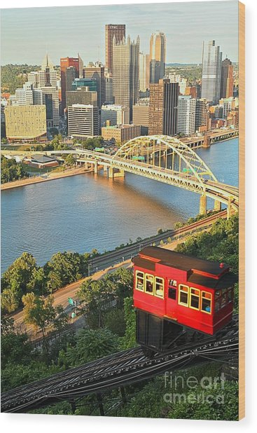 Pittsburgh Duquesne Incline Wood Print