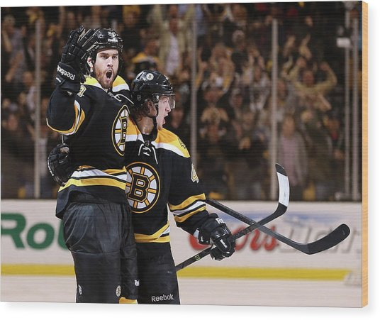 Pittsburgh Penguins V Boston Bruins - Wood Print