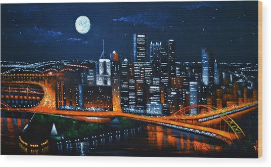 Pittsburgh  Sold Wood Print