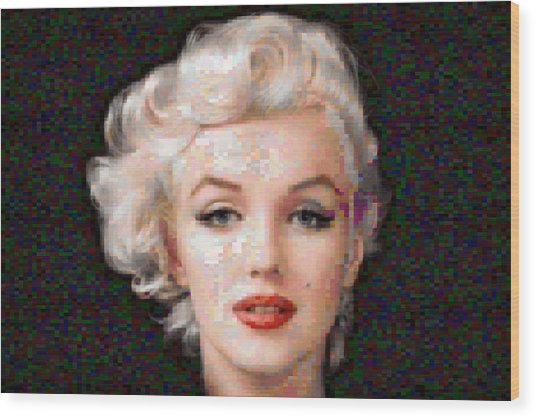 Pixelated Marilyn Wood Print