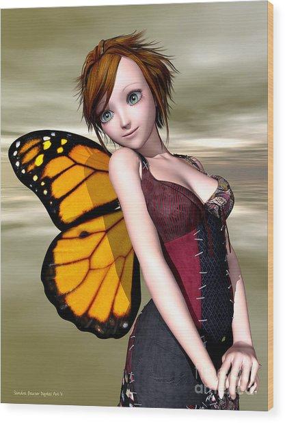 Pixie Wood Print by Sandra Bauser Digital Art