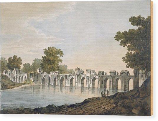 Pl. 34 A View Of The Bridge Wood Print