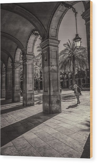 Placa Reial Shadows Wood Print