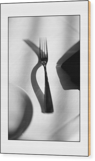 Place Setting Simplicity Wood Print by Don Powers