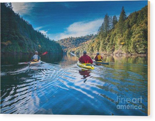 Placid Paddle Wood Print