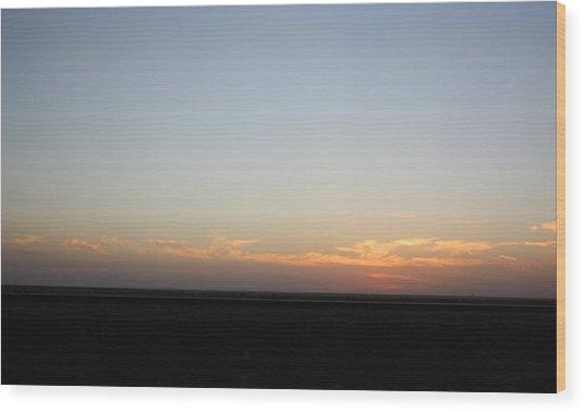 Plain Sunset Wood Print