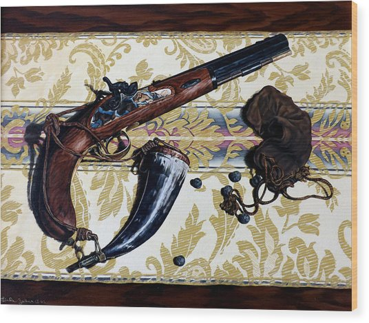 Plains Pistol Wood Print