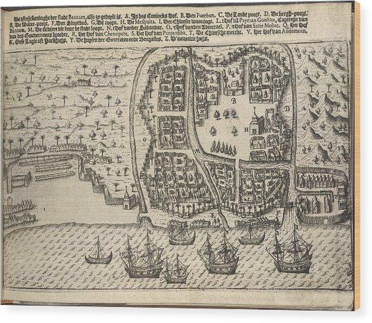 Plan Of Bantam Wood Print by British Library