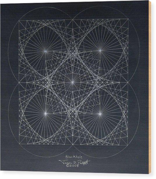 Plancks Blackhole Wood Print
