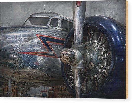Plane - Hey Fly Boy  Wood Print