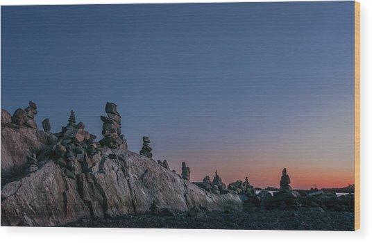 Planetary Wood Print