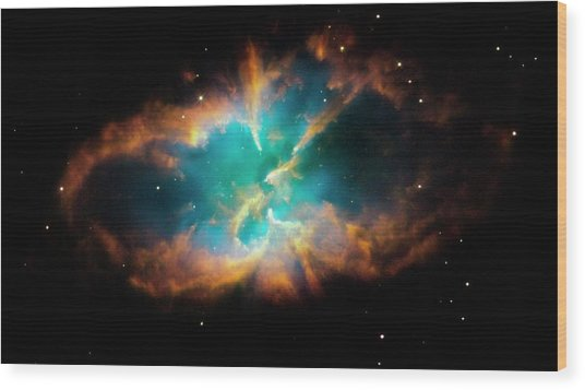 Planetary Nebula Ngc 2818 Wood Print by Nasa/esa/stsci/hubble Heritage Team/science Photo Library
