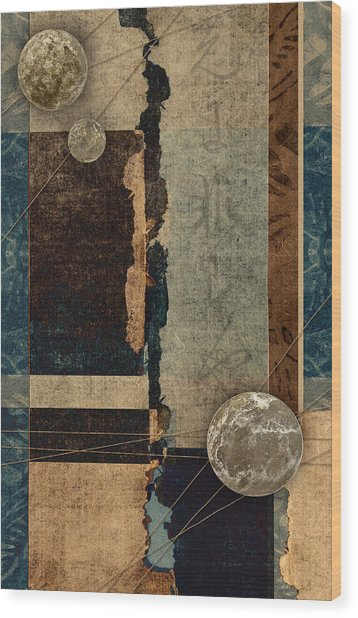 Planetary Shift #1 Wood Print