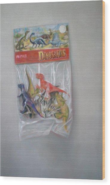 Plastic Dinosaurs  Wood Print