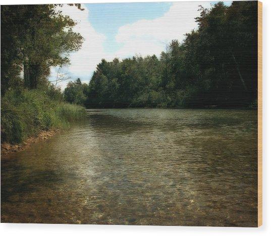 Platte River Wood Print