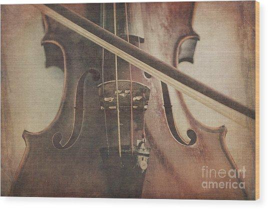 Play A Tune Wood Print