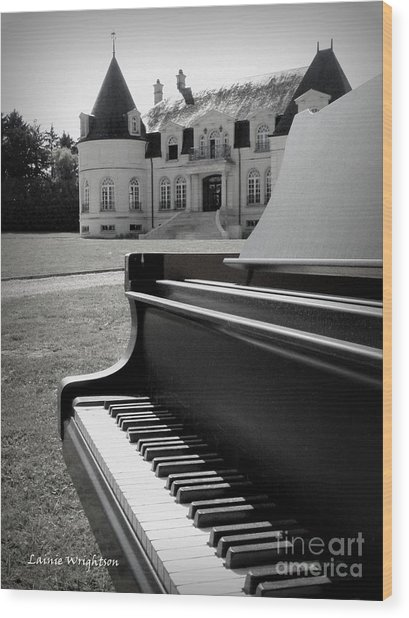 Play Me A Tune Wood Print