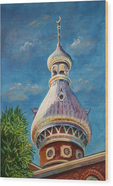 Play Of Light - University Of Tampa Wood Print