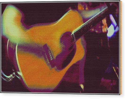 Play That Guitar Wood Print by Greg Thiemeyer