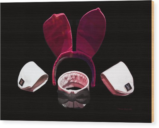 Playboy Bunny Costume Accessories Wood Print