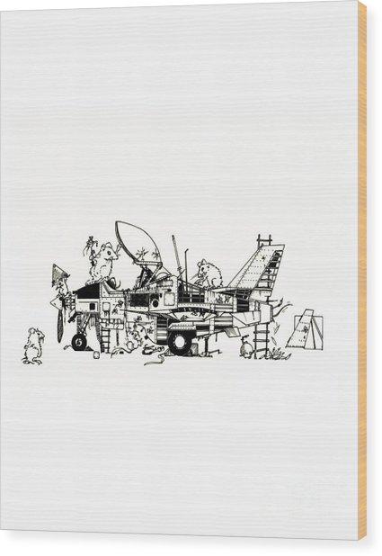 Playground Wood Print