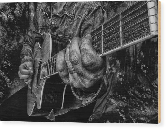 Playin The Blues Wood Print