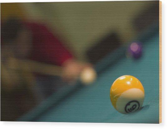 Playing Pool Wood Print by Ioan Panaite