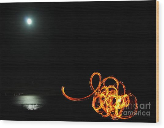 Playing With Fire 1 Wood Print