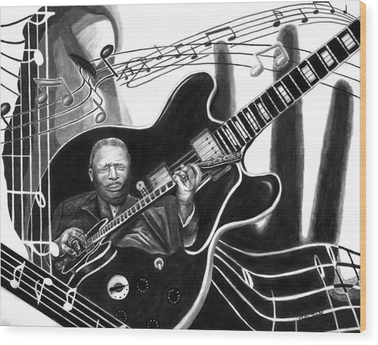 Playing With Lucille - Bb King Wood Print