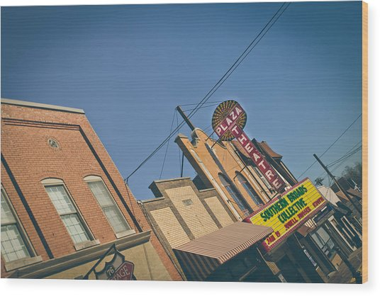 Plaza Theatre Wood Print