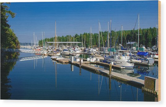 Pleasant Harbor Wood Print