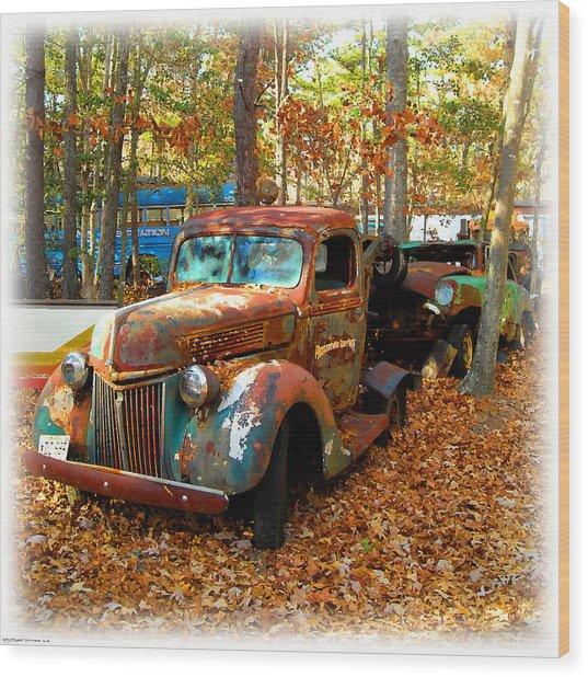 Pleasantville Speedway Tow Truck Wood Print