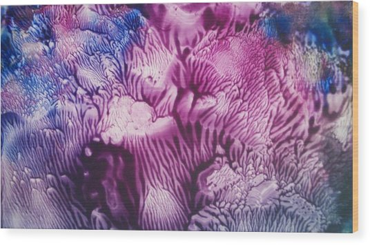 Pleiadian Sea Life Wood Print