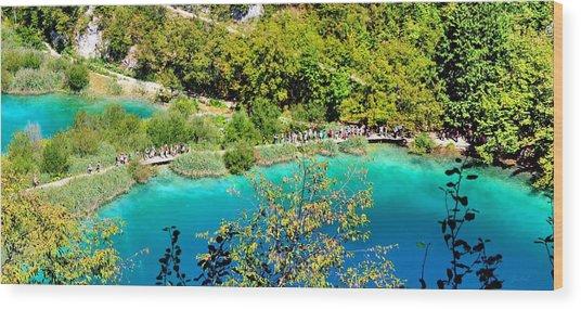 Plitvice Lakes Croatia Wood Print