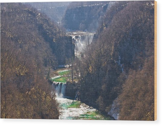 Plitvice Lakes National Park Canyon Wood Print