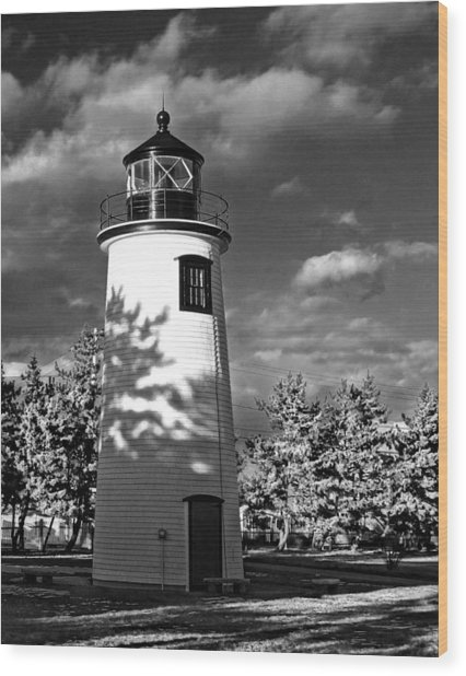 Plum Island Light 01 Wood Print