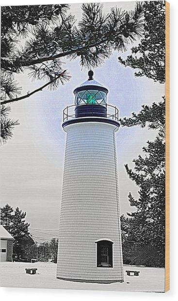 Plum Island Light Wood Print