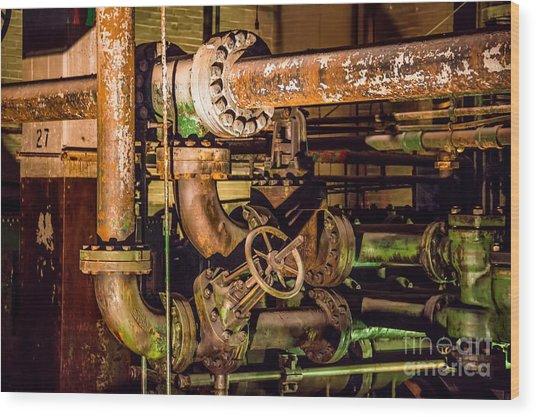 Plumbing Wood Print