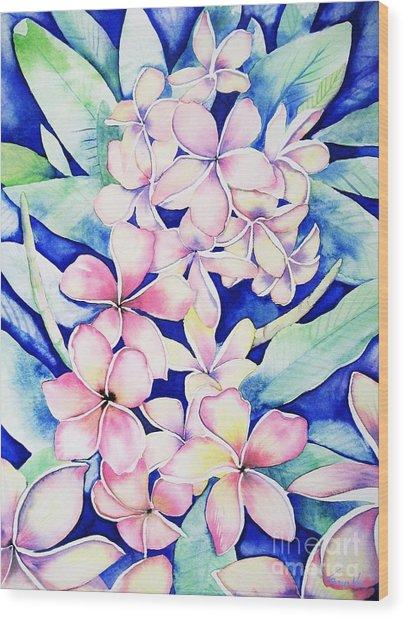 Plumerias Of Maui Wood Print