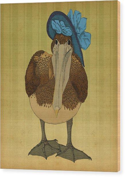 Plumpskin Ploshkin Pelican Jill Wood Print